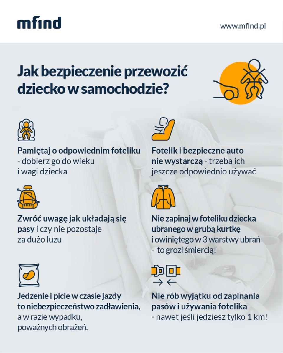 Jak bezpieczenie przewozić dziecko - infografika mfind.pl.png