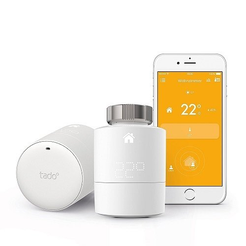 tado° Smartes Heizkörper-Thermostat - Starter Kit, intelligente Heizungssteuerung per Smartphone