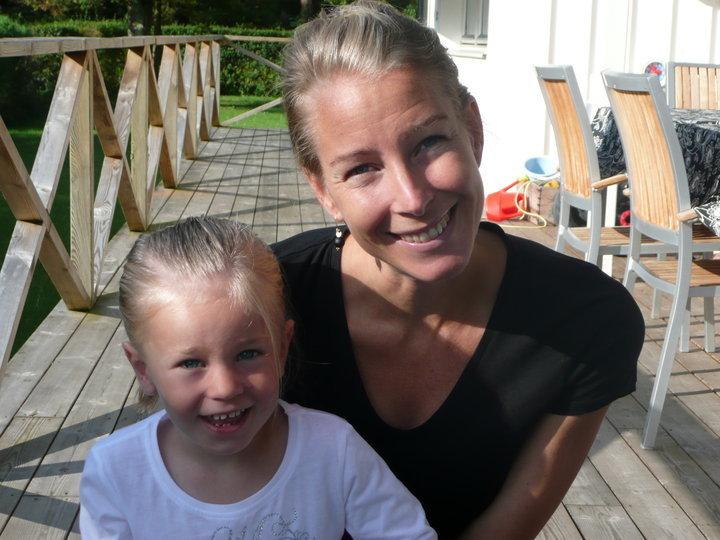 Carolina Molse med dottern Anna.