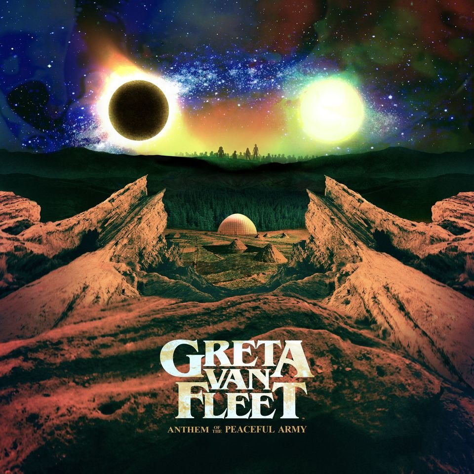 "Greta Van Fleet – okładka płyty ""Anthem of The Peaceful Army"""