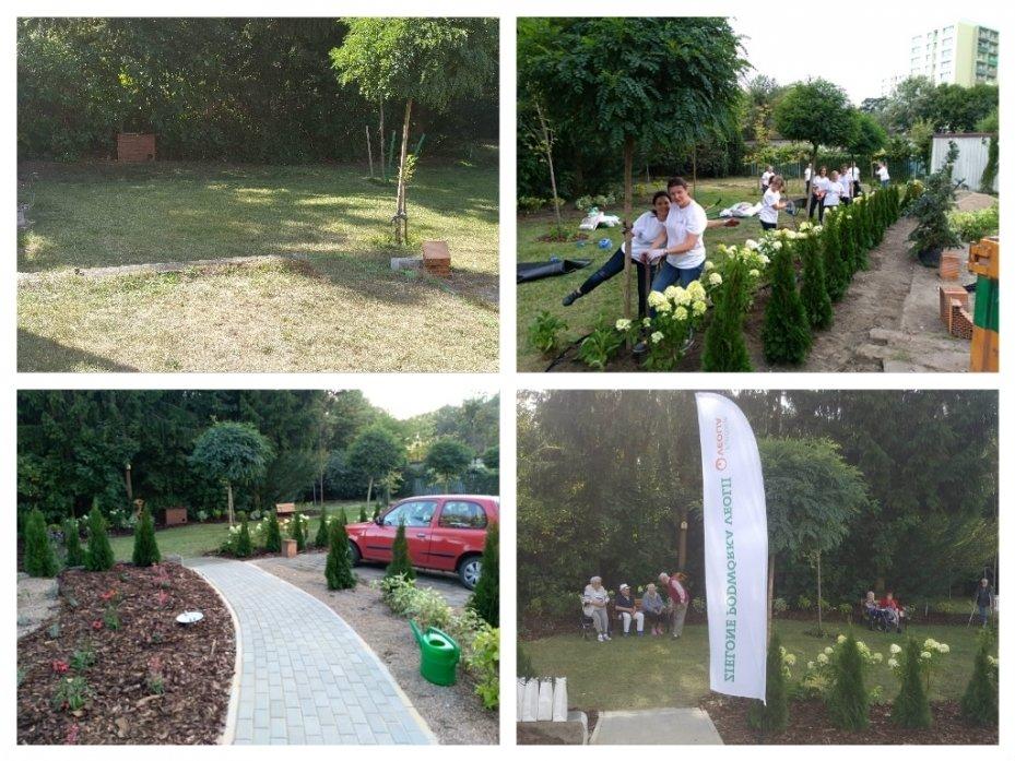 Zielone Podwórko Veolii przy Domy Pomocy Społecznej Ugory w Poznaniu