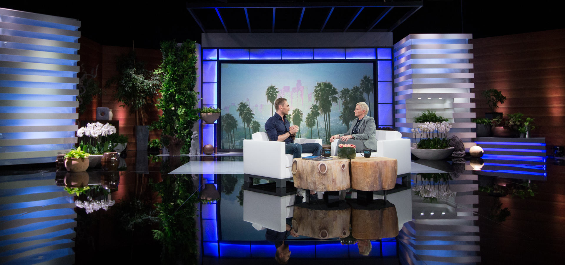 This guy has built a TV studio & produced a show that looks like Ellen's just to get her invitation