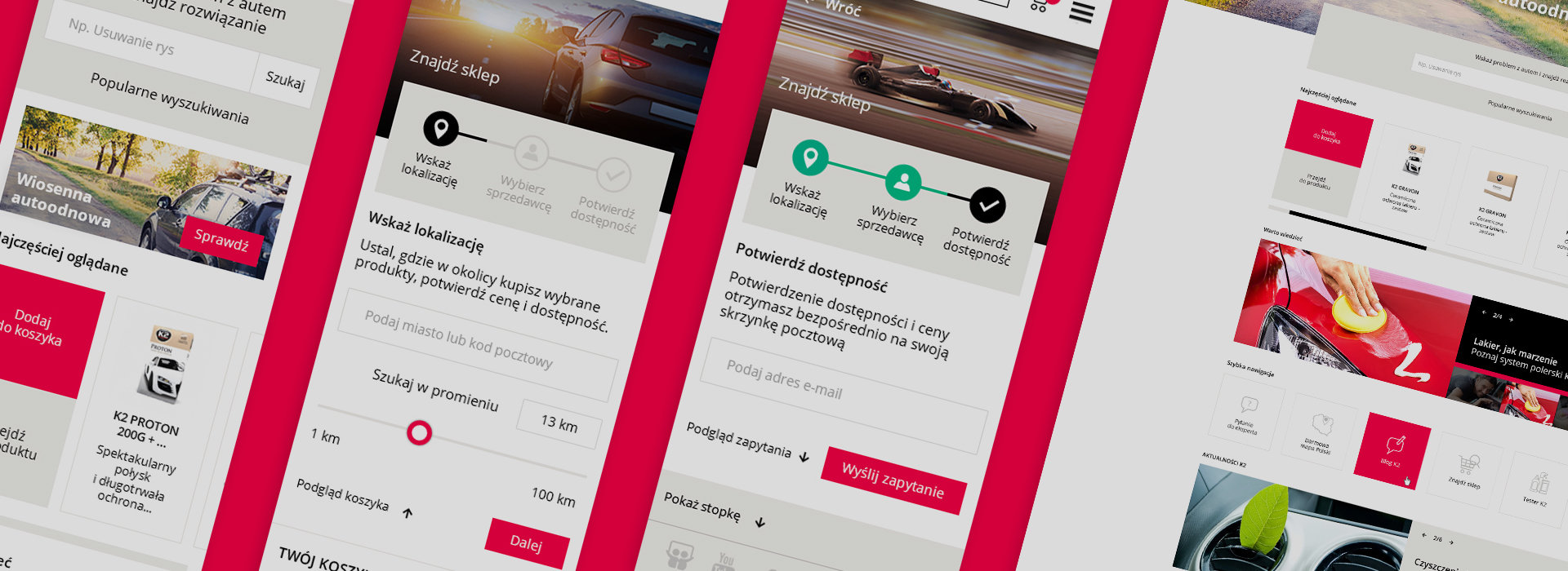 'K2' car-care products - 'Mobile First' web redesign