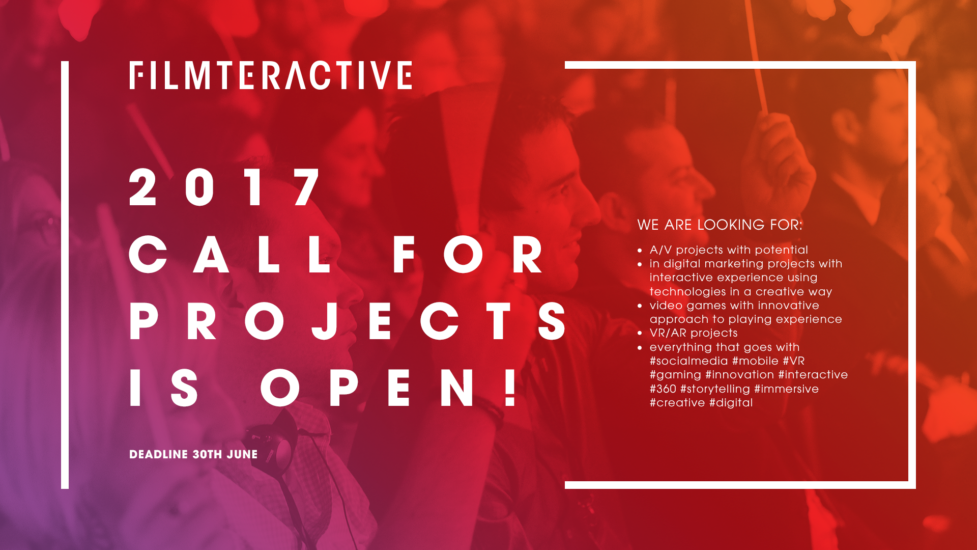 Filmteractive Market 2017 Call for Projects is open