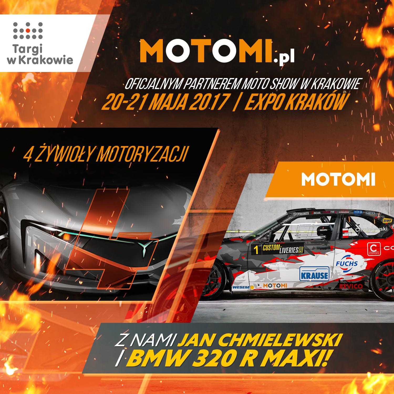 MOTOMI.pl oficjalnym partnerem 4. edycji Moto Show w Krakowie