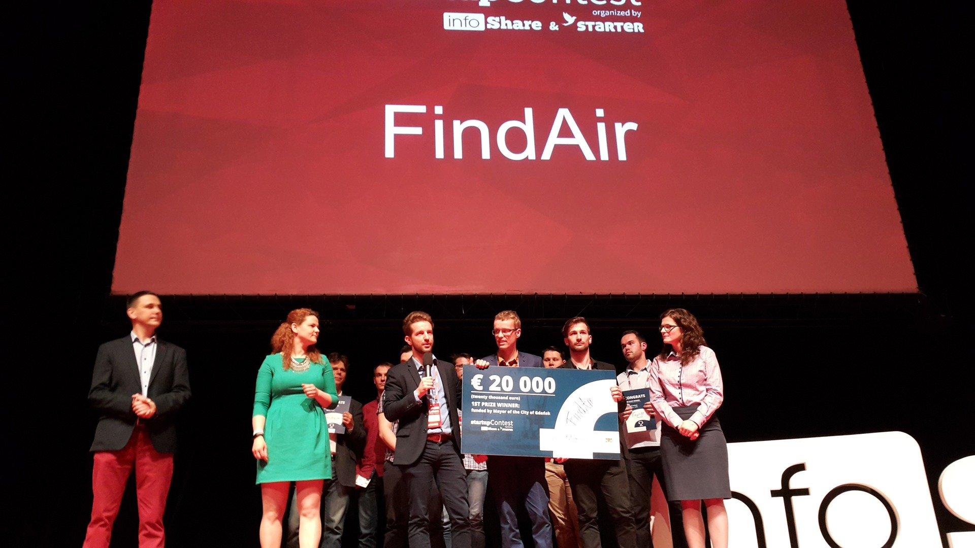 Podbili InfoShare. Zgarnęli wszystkie nagrody. FINDAIR najlepszym startupem 2017 roku!