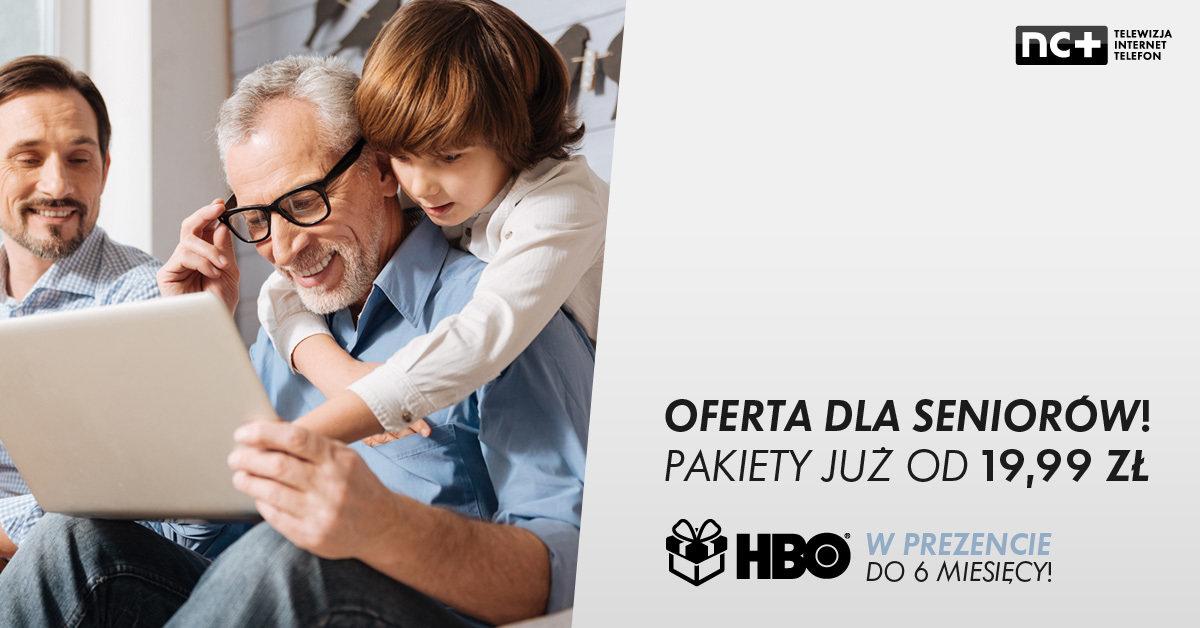 Platforma nc+ z nową ofertą dla seniorów. Pakiet HBO na 6 miesięcy w prezencie przy zakupie dowolnego pakietu telewizji.