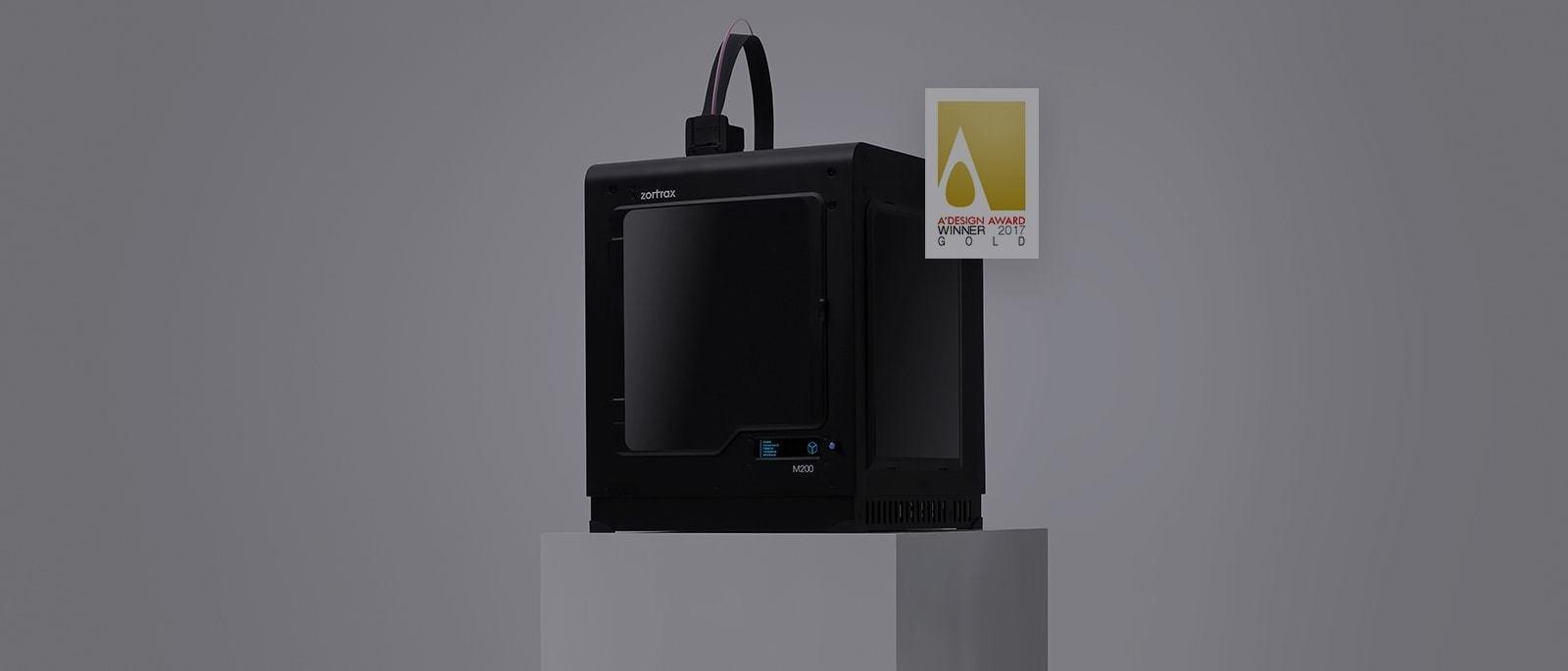 Golden A'Design Award for Zortrax M200 3D Printer