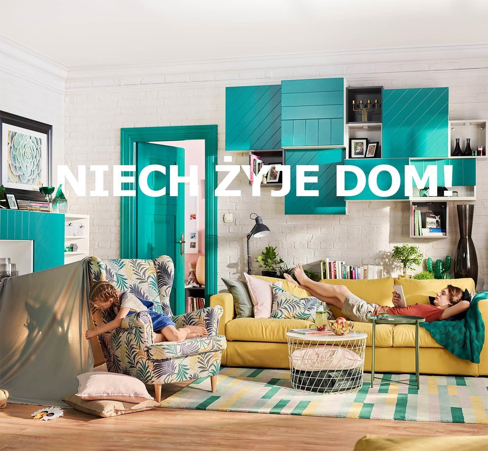 """Życie to zmiany, zrób na nie miejsce. Pierwsza kampania produktowa IKEA w nowej platformie komunikacyjnej """"IKEA. Niech Żyje Dom!""""."""