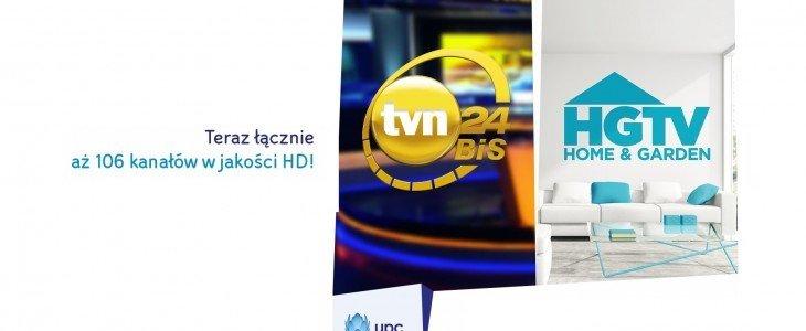 Kanały Grupy TVN z funkcją Replay TV, a także nowe kanały HD i więcej możliwości w Telewizji Cyfrowej UPC