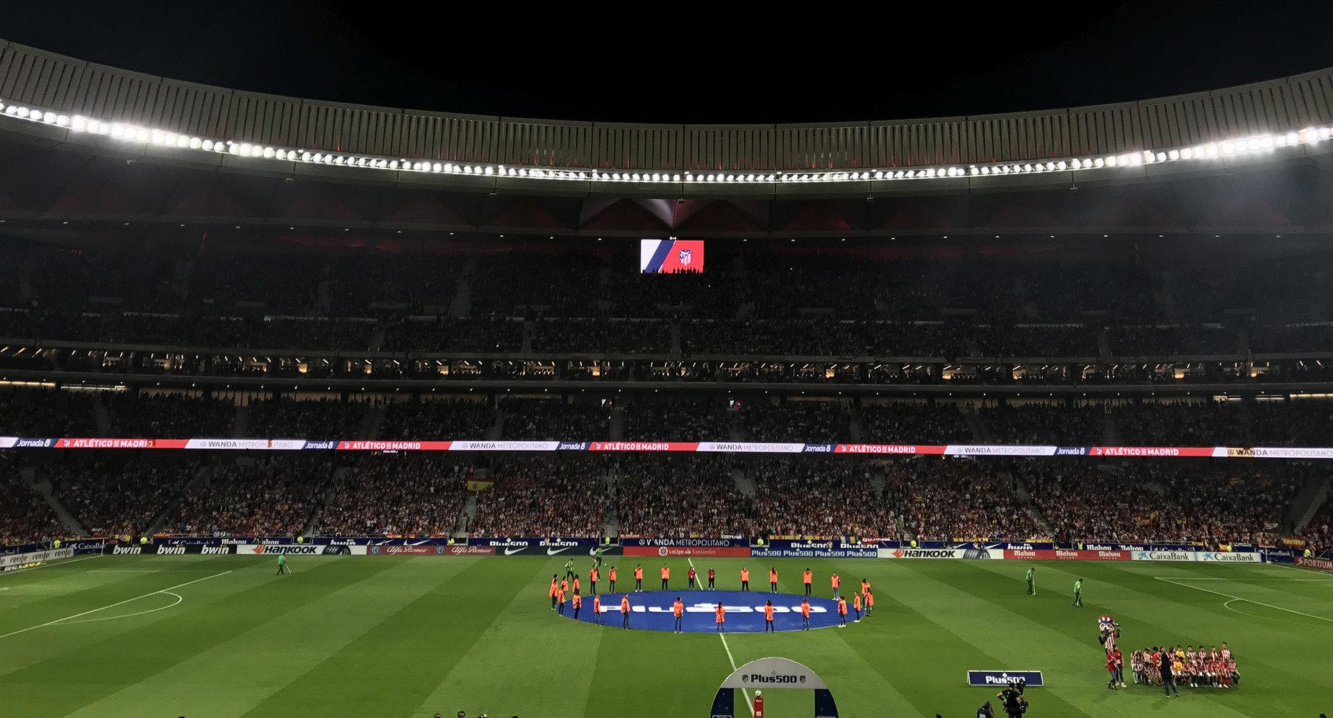 Ekrany LG rozświetlają hiszpański  stadion Wanda Metropolitano