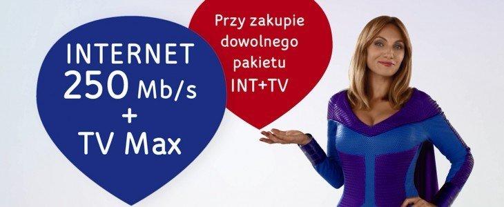Telewizja Cyfrowa Max HD i Internet 250 Mb/s w promocji dla każdego, kto wybierze w UPC usługi w pakiecie
