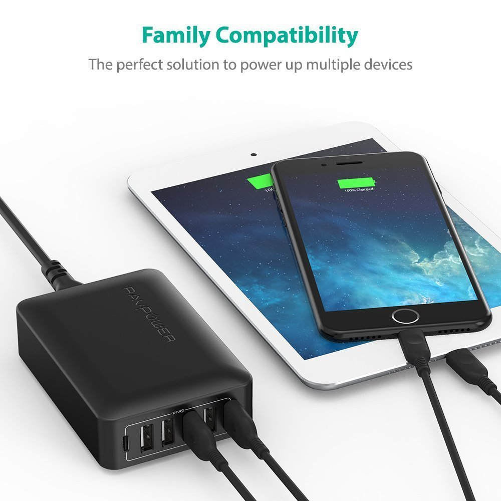 RAVPOWER LAUNCHES ITS ULTIMATE 6-PORT WALL CHARGER FOR HOMES AND OFFICE