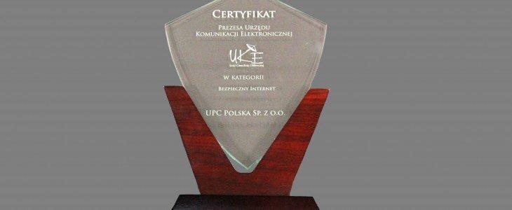 Certyfikat UKE dla UPC Polska