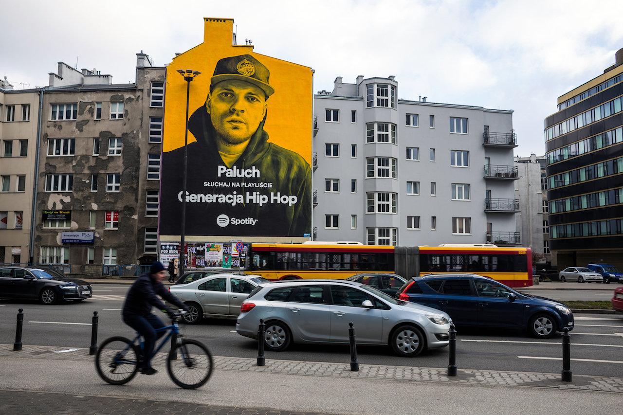 Spotify z hip hopowymi muralami