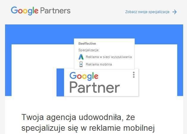 Nowa specjalizacja Beeffective - reklama mobilna
