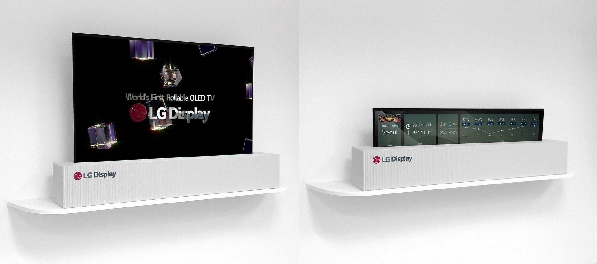 Telewizor przyszłości zwijany w rulon od LG Display ujrzał światło dzienne