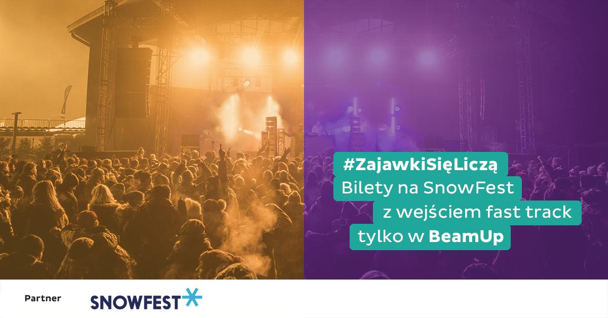 BeamUp partnerem festiwalu SnowFest 2018