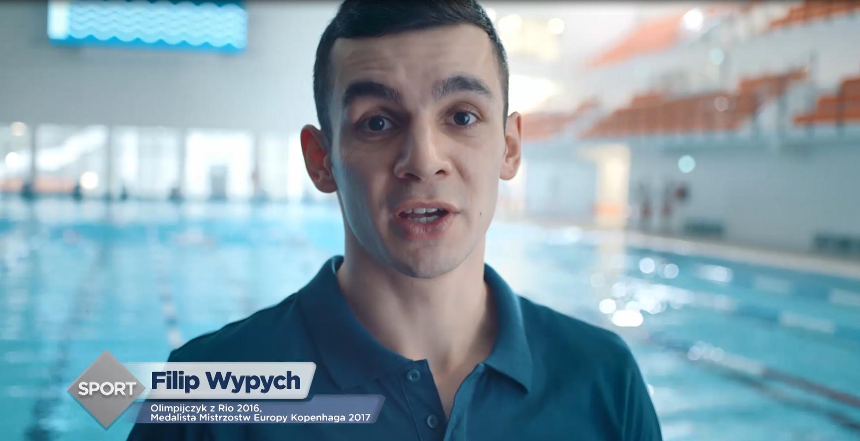 Olimpijczyk Filip Wypych w kampanii reklamowej NeoMag Skurcz