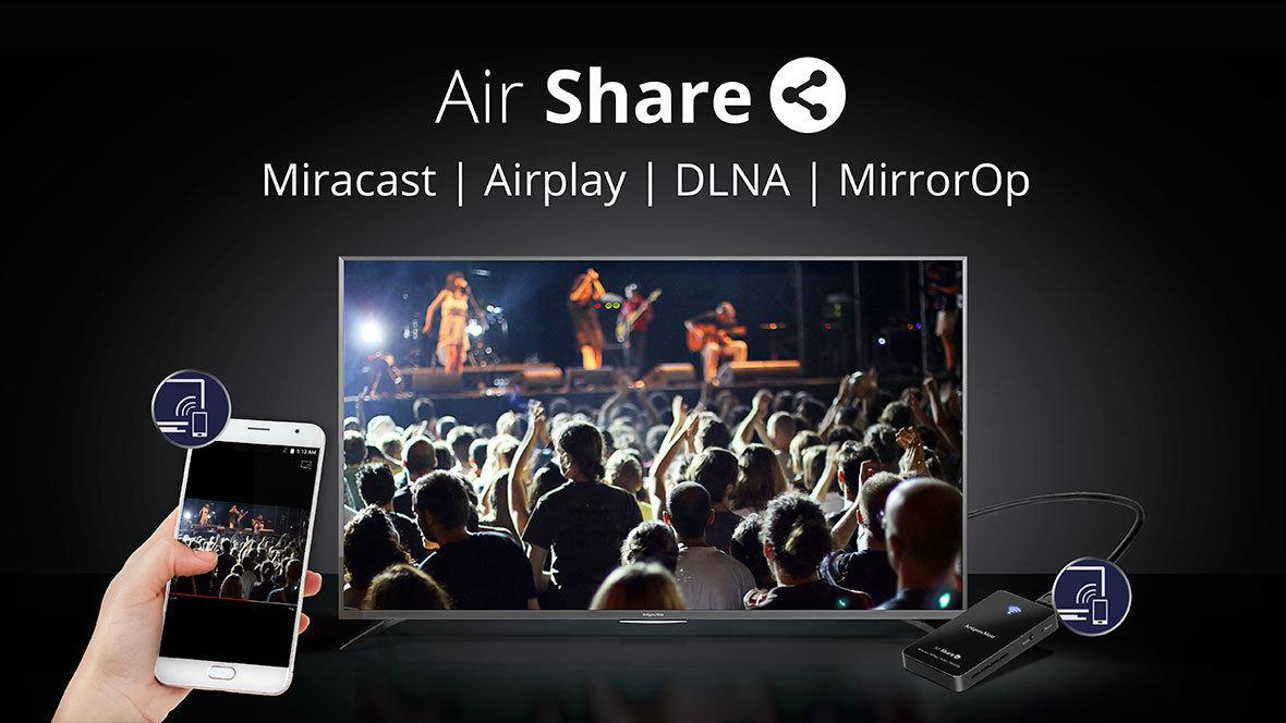 Kruger&Matz Air Share, przystawka która przenosi obraz i dźwięk ze smartfona na ekran telewizora