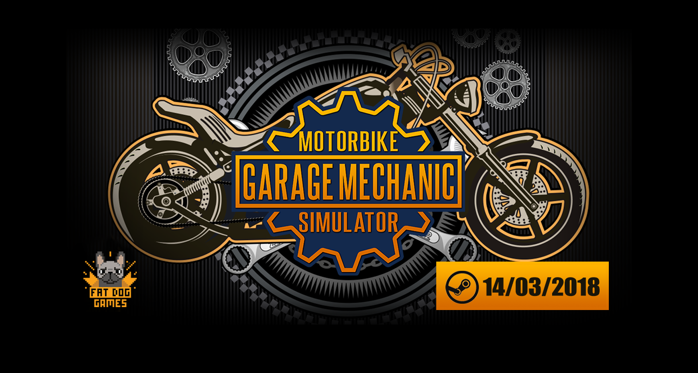 Bring your choppers! MOTORBIKE GARAGE MECHANIC SIMULATOR is open for business, debuts today on Steam!
