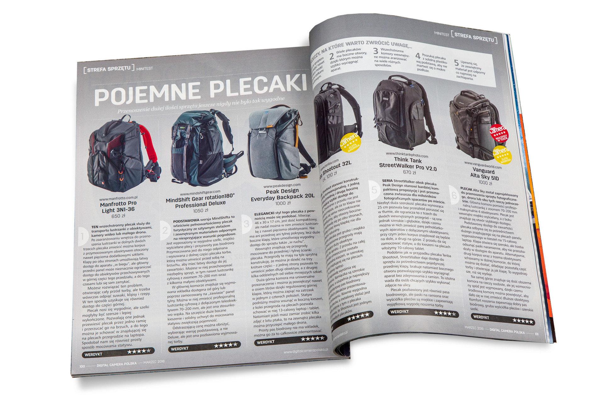 Plecak marki Vanguard doceniony przez magazyn Digital Camera Polska