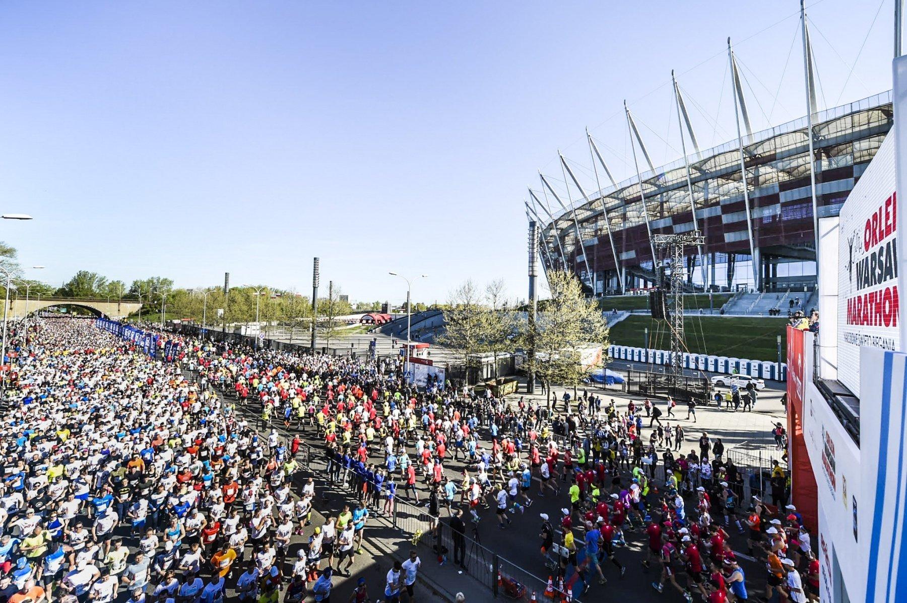 Dwadzieścia tysięcy miłośników sportu rywalizowało podczas ORLEN Warsaw Marathon