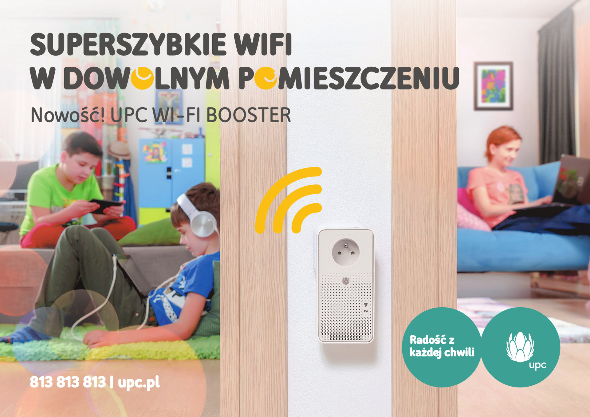 UPC Polska dołącza do swojej oferty boostery – urządzenia do zwiększania zasięgu WiFi w dużym mieszkaniu i domu