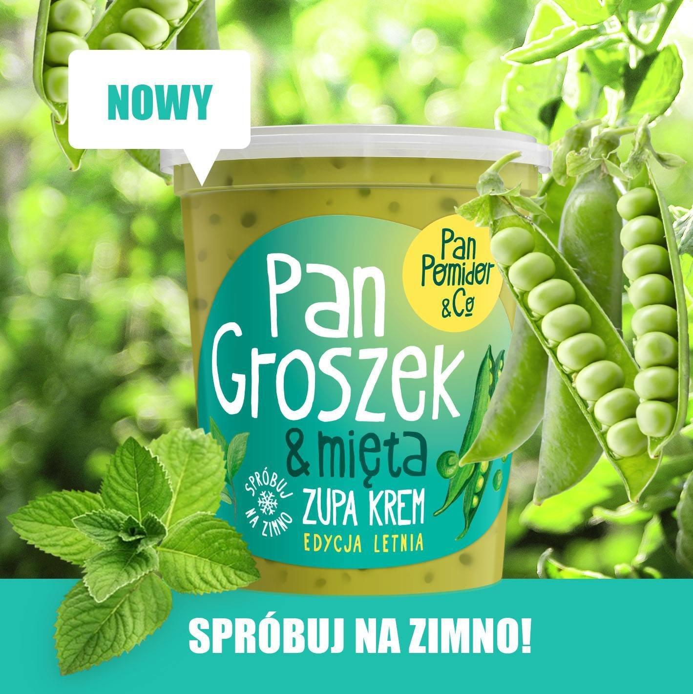 Pan Groszek & Mięta - doskonała zupa na letnie upały