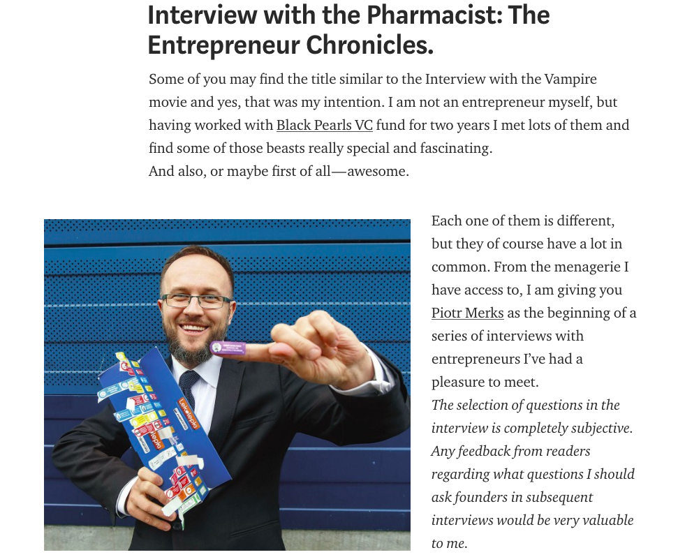 Interview with the Pharmacist: The Entrepreneur Chronicles.