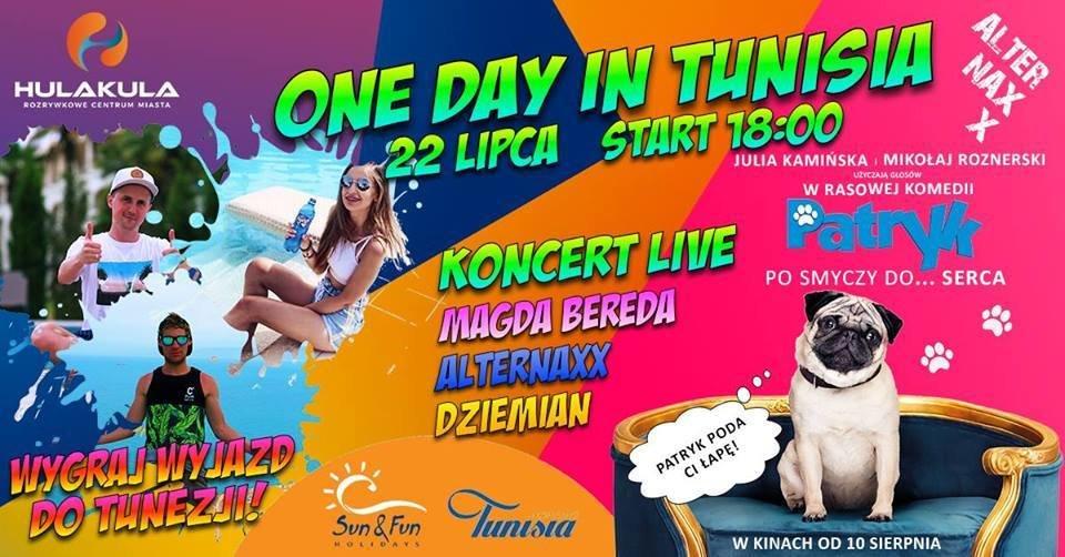 Rodzinna impreza One Day in Tunisia – już w najbliższą niedzielę, 22 lipca w Hulakula