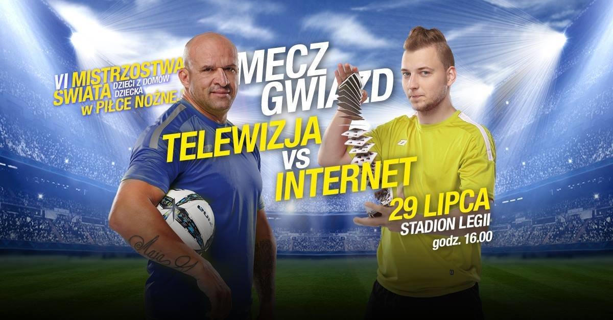 Mecz Gwiazd: Telewizja vs Internet już w tę niedzielę na Stadionie Legii! LifeTube strategicznym partnerem Mistrzostw Świata Dzieci z Domów Dziecka.
