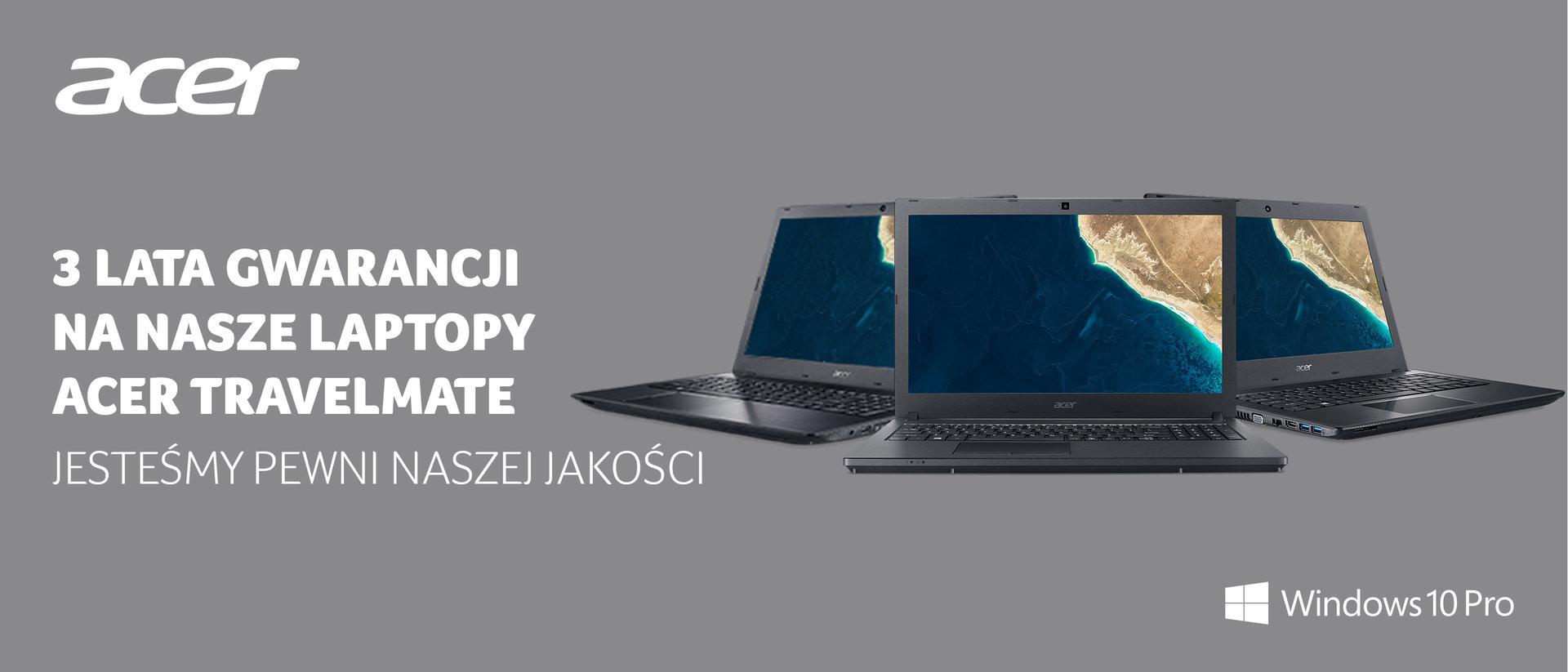 Trzy lata gwarancji na laptopy biznesowe z serii Acer TravelMate