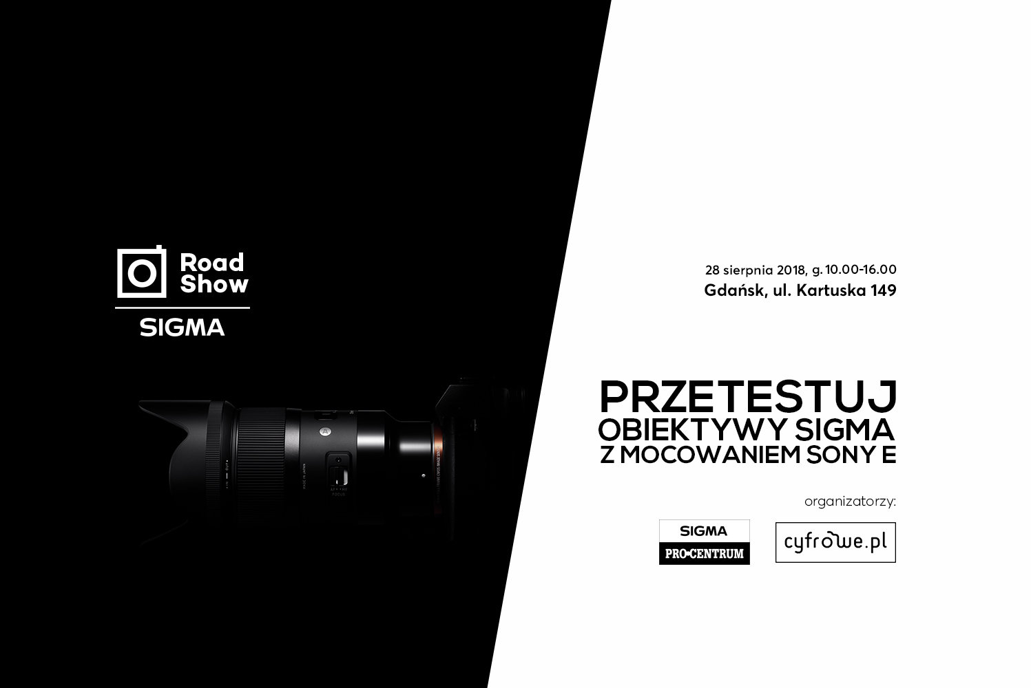 SIGMA Sony-E Roadshow – przyjdź i przetestuj