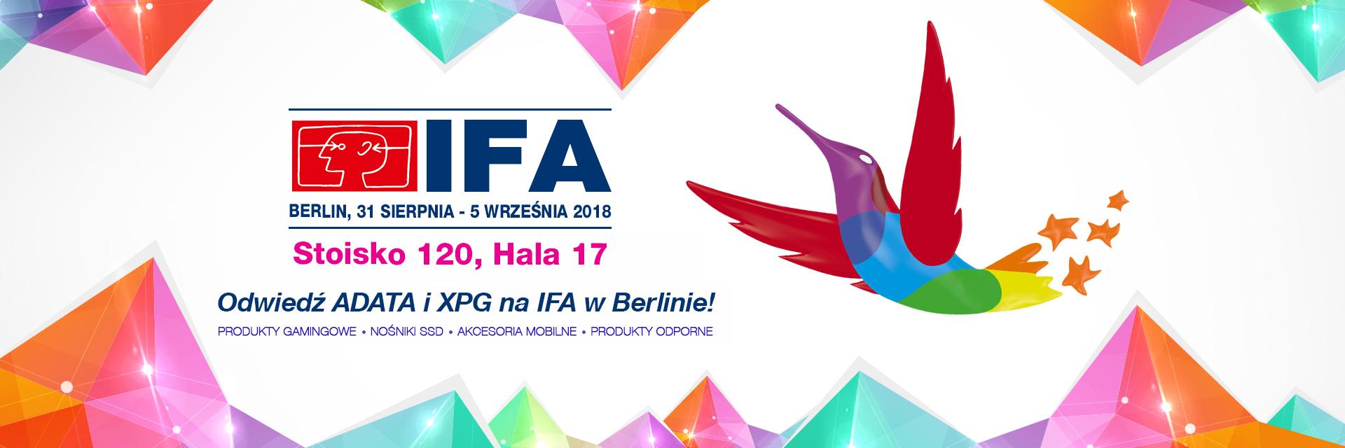 Innowacje od ADATA na targach IFA 2018