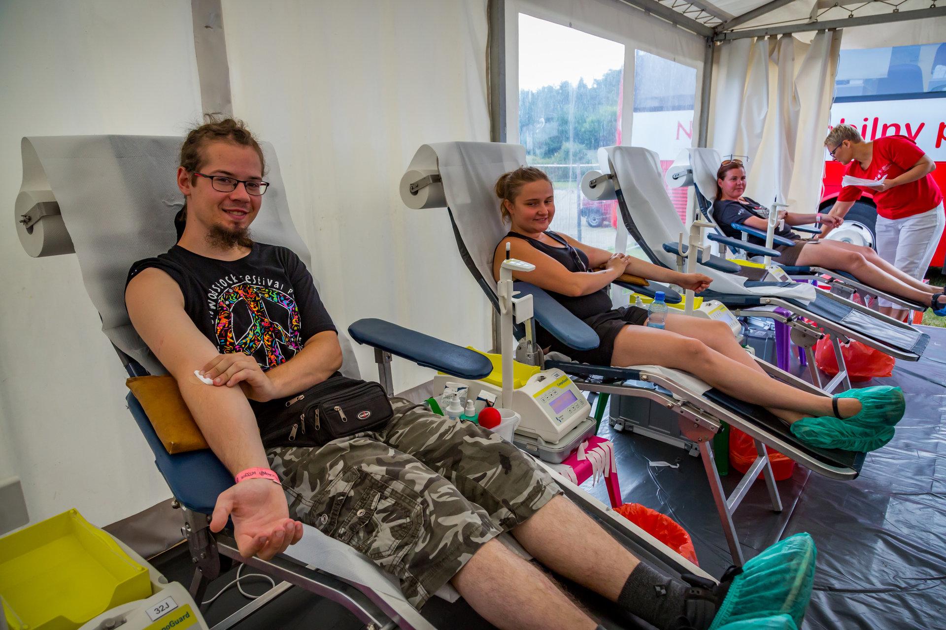 Zbiórka krwi na Pol'and'Rock Festival