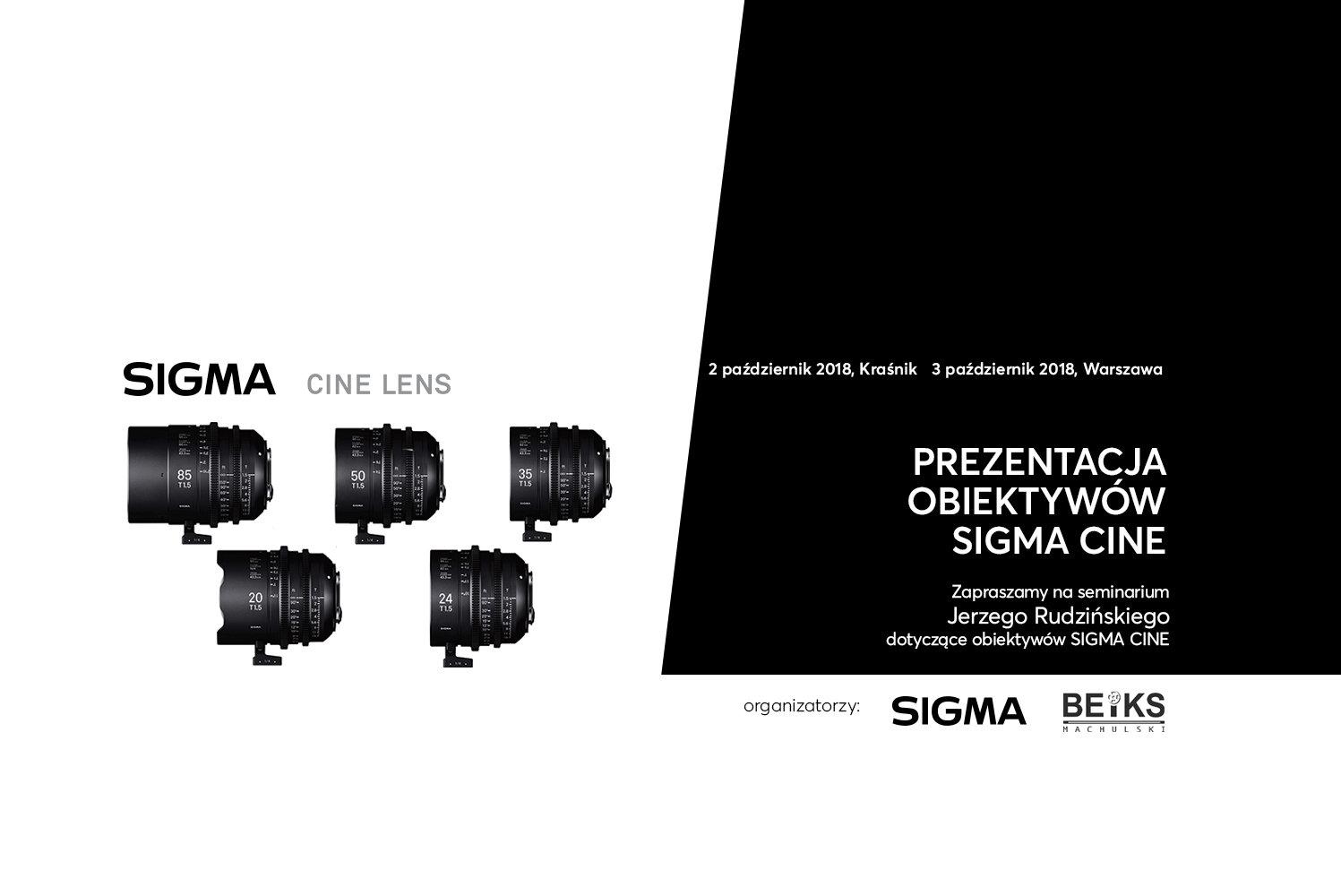 Seminarium z obiektywami SIGMA CINE