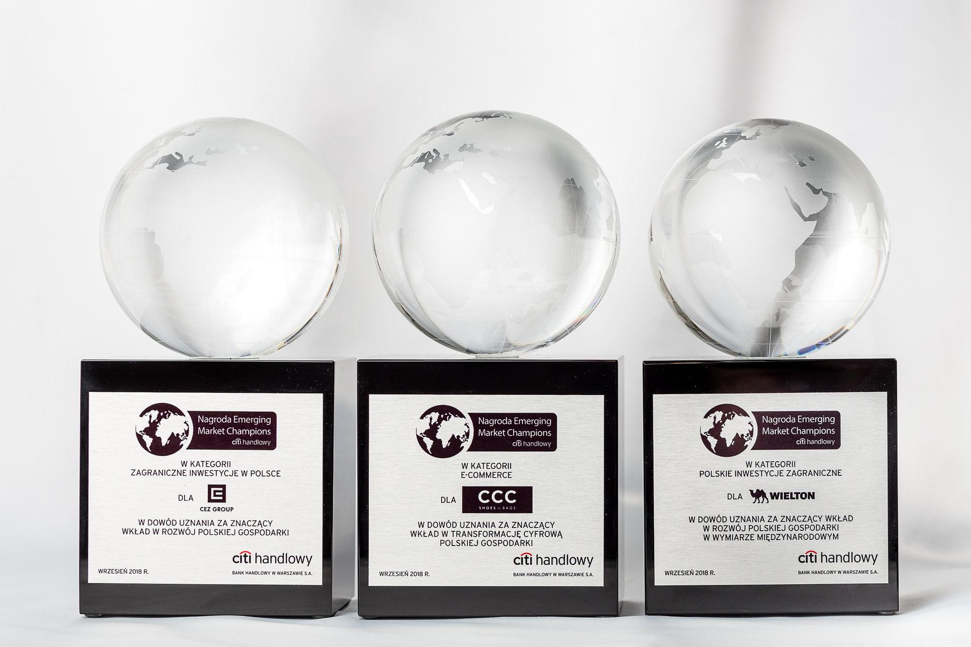 Trzy razy Nagroda Emerging Market Champions