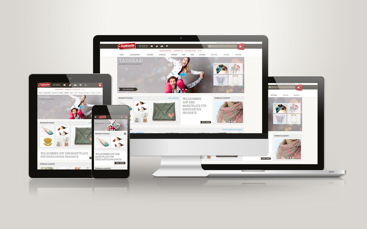 Relaunch 2013: DaWanda baut mit neuem Corporate Design und Online-Profil Marktführerschaft aus