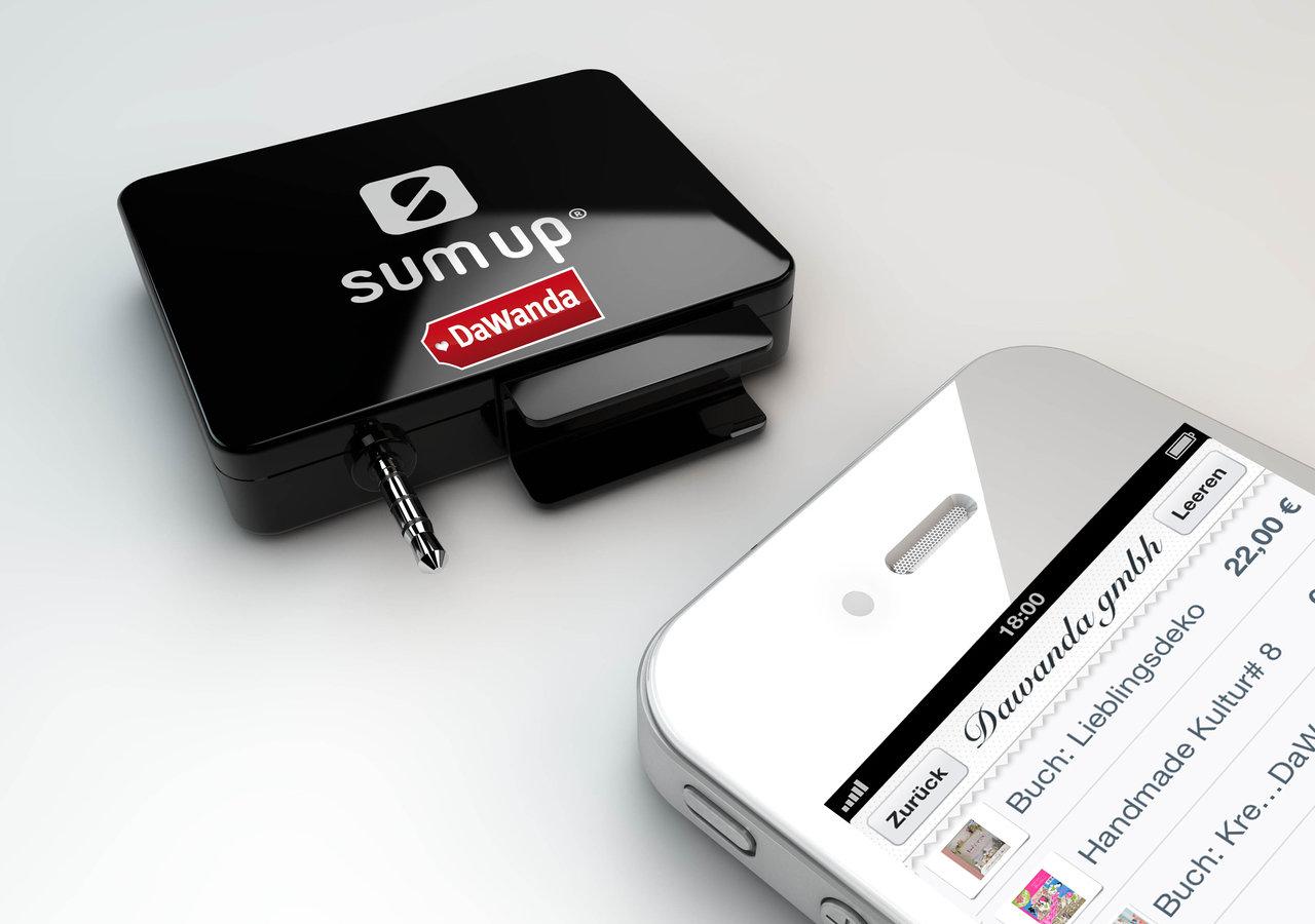 Neuer Service für Verkäufer: DaWanda und SumUp stellen kostenlose mobile Kartenlesegeräte zur Verfügung
